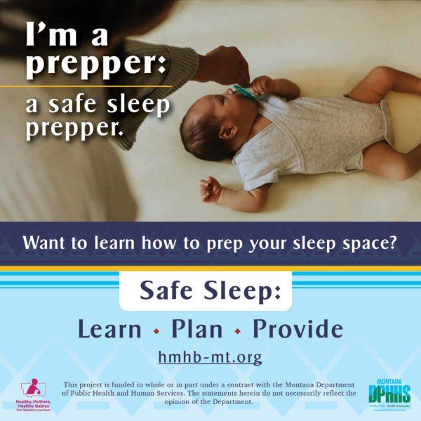 FB safe sleep ad option: I'm a prepper: a safe sleep prepper.