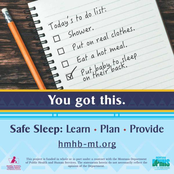 FB safe sleep ad option: You got this.
