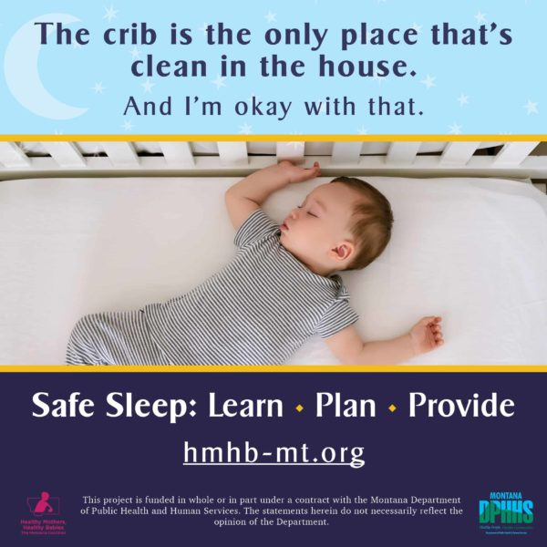 FB safe sleep ad option: The crib is the only place that's clean in the house. And I'm okay with that.