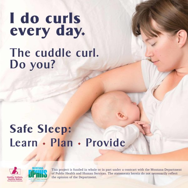 FB safe sleep ad option: I do curls every day. The cuddle curl. Do you?