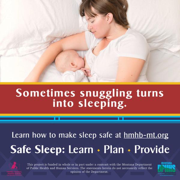 FB safe sleep ad option: sometimes snuggling turns into sleeping