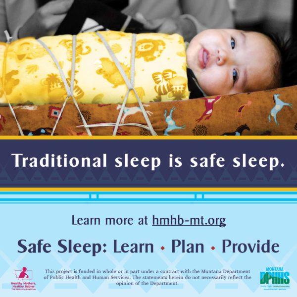 FB safe sleep ad option: Traditional sleep is safe sleep (craddle board)