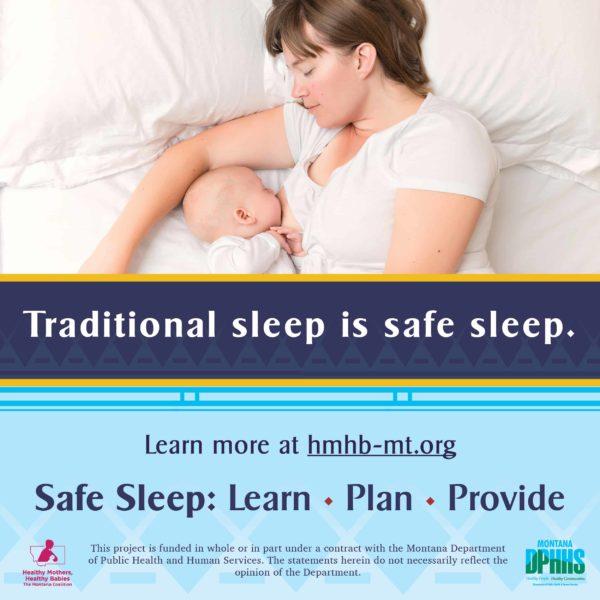 FB safe sleep ad option: traditional sleep is safe sleep (cuddle curl)