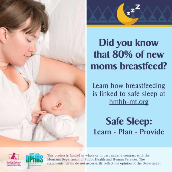 FB safe sleep ad option: Did you know that 80% of new moms breastfeed?