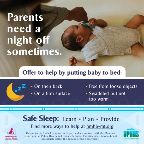 FB safe sleep ad option: Parents need a night off somtimes.
