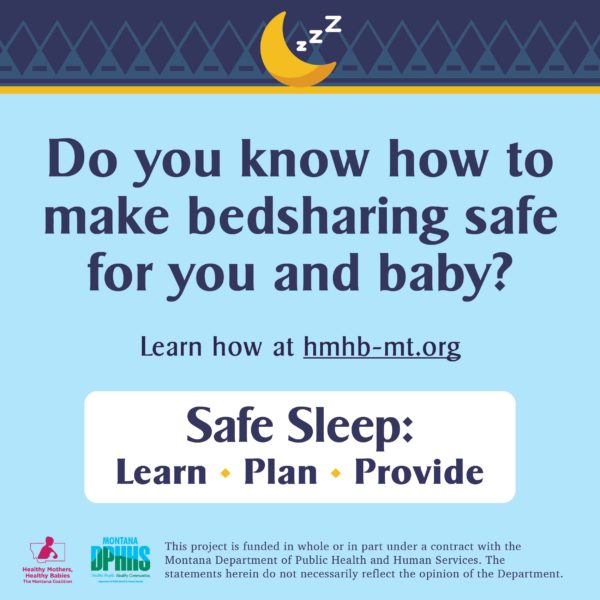 FB safe sleep ad option: do you know how to make bedsharing safe for you and baby?